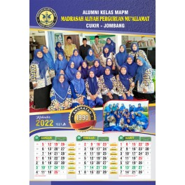 Kalender 2023 Ukuran 32 X 64 Cm