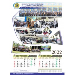 Cetak Kalender 2024 Ukuran 38 X 54  Cm