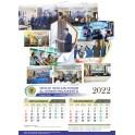 Cetak Kalender 2022 Ukuran 38 X 54  Cm